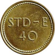 Telephone Token - 40 STD-E – reverse