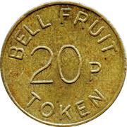 20 Pence - Bell Fruit Token – reverse