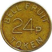 24 Pence - Bell Fruit Token – reverse