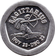 10 Pence - National Transport Token (Sagittarius) – obverse