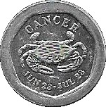 10 Pence - National Transport Token (Cancer) – obverse