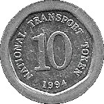 10 Pence - National Transport Token (Cancer) – reverse