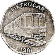 20 Pence - National Transport Token (Metrocar 1981) – obverse