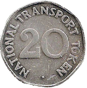 20 Pence - National Transport Token (Metrocar 1981) – reverse