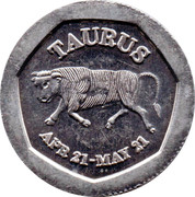 10 Pence - National Transport Token (Taurus) – obverse