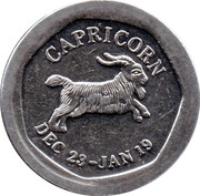 10 Pence - National Transport Token (Capricorn) – obverse