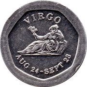 10 Pence - National Transport Token (Virgo) – obverse