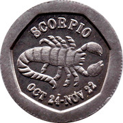 10 Pence - National Transport Token (Scorpio) – obverse