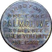 Palmolive Free Soap Cake Token c.1926-1928 – obverse