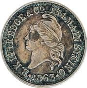 "Liberty Head Token ""B. Kittredge & Co."" – obverse"