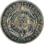 "Liberty Head Token ""B. Kittredge & Co."" – reverse"