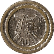 75 Centimes - Raoul – obverse