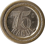 75 Centimes - Raoul – reverse