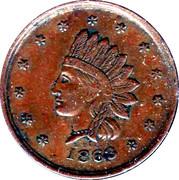 1 Cent (Civil War Token - J.J. Diehl/Indian Head) – obverse