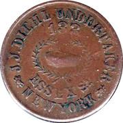 1 Cent (Civil War Token - J.J. Diehl/Indian Head) – reverse