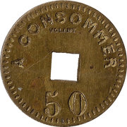 50 Centimes - Cazon – reverse