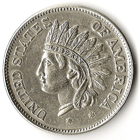 1 Dollar Silver Coin 1865