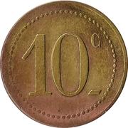 10 Centimes - Restaurant Choiseul - Paris [75] – reverse