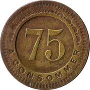 75 Centimes - Société Automat – reverse