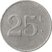 25 Centimes - Jardin Ramette – reverse
