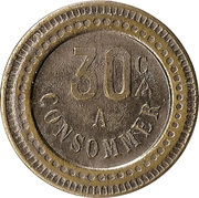 30 Centimes - A Consommer (Sheep) – reverse