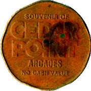 Token - Cedar Point Arcades – obverse