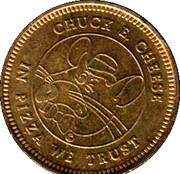 Token - Chuck E Cheese (Bilingual; Brass) – obverse