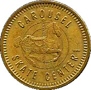 Token - Carousel Skate Center – obverse
