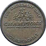 Token - Champions Sports Amusement Center – reverse