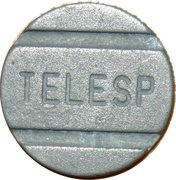 Telephone Token - TELESP (São Paulo State Local Call) – obverse