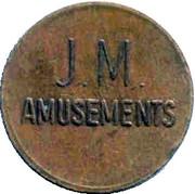 Token - J M Amusements – obverse