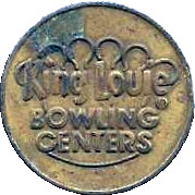 Token - King Louie Bowling Centers – obverse