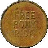 Token - Meijer (Free Pony Ride) – reverse