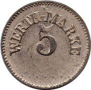 5 Pfennig (Werth-Marke; Copper-nickel) – obverse