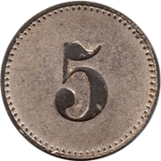 5 Pfennig (Werth-Marke; Copper-nickel) – reverse