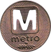 1 Fare - Metrobus – obverse