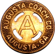 1 Fare - Augusta Coach Co. (Augusta, Georgia) – obverse
