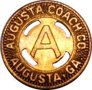 1 Fare - Augusta Coach Co. (Augusta, Georgia) – obverse