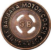 1 Fare - Santa Barbara Motor Coach Corp. (Santa Barbara, California) – obverse