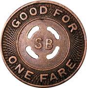 1 Fare - Santa Barbara Motor Coach Corp. (Santa Barbara, California) – reverse