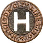 1 Fare - Hamilton City Lines Inc. (Hamilton, Ohio) – obverse
