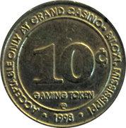 10 Cent Gaming Token - Grand Casino Biloxi – reverse