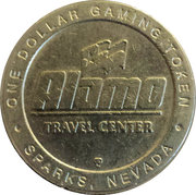 1 Dollar Gaming Token - Alamo Travel Center (Sparks, Nevada) – obverse