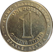 1 Dollar Gaming Token - Alamo Travel Center (Sparks, Nevada) – reverse