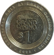 1 Dollar Gaming Token - Grand Casino (Tunica, Mississippi) – obverse