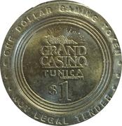 1 Dollar Gaming Token - Grand Casino (Tunica, Mississippi) – reverse