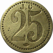 25 Centimes - J. G – reverse