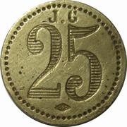 25 Centimes - J. G – reverse
