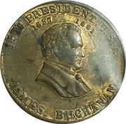 Token - James Buchanan (Old Buck) – obverse