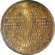 Token - Franklin D. Roosevelt (A New Deal) – reverse